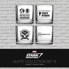 Marvel, Iron Man Stark Industries, set 4 skleniček