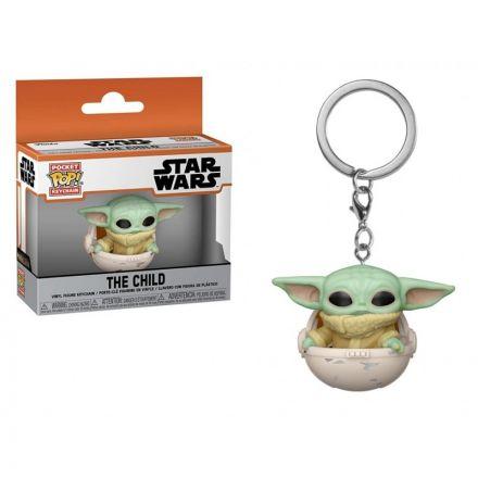 Star Wars, The Mandalorian POP! přívěšek The Child v kočárku 5 cm