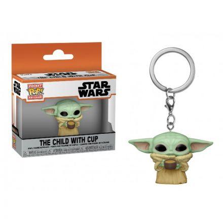 Star Wars The Mandalorian POP! přívěšek The Child s hrnečkem 4 cm