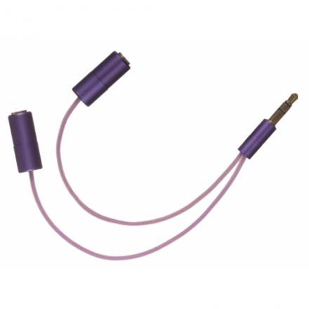 iSplit rozdělovač sluchátek pro dva, fialový