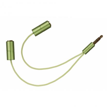 iSplit rozdělovač sluchátek pro dva, zelený