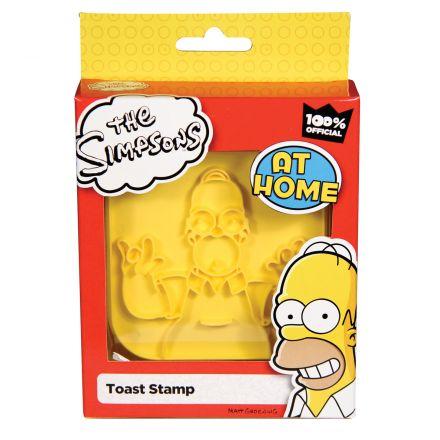Homer toust, razítko na tousty