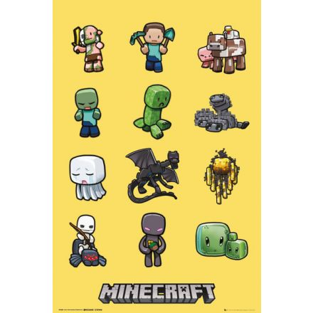 Minecraft Characters, plakát