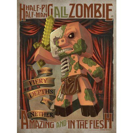Minecraft Half Pig Half Man, plakát