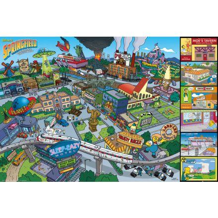 The Simpsons Locations, plakát