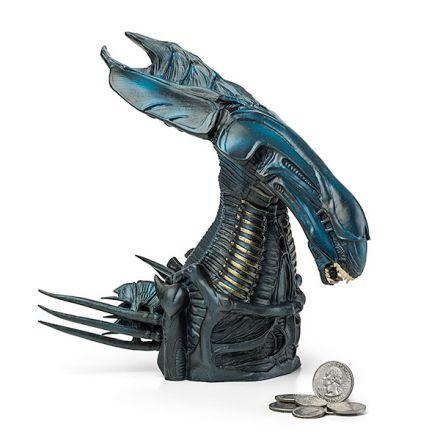 Alien, busta královny, pokladnička 23 cm