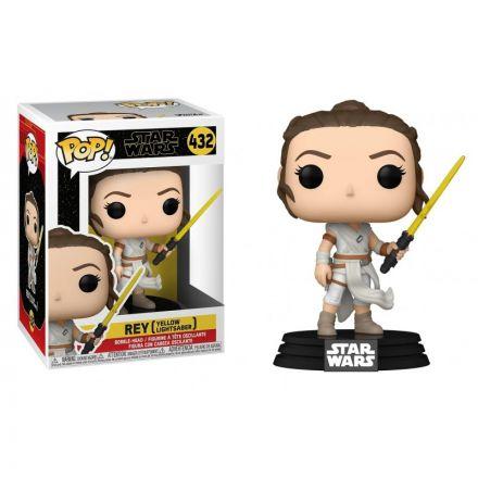 Star Wars, POP! Rey se žlutým světelným mečem, figurka 9 cm