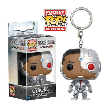 DC Comics Justice League POP! přívěšek Cyborg 4 cm
