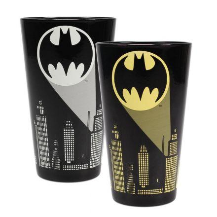 DC Comics, Bat-Signal, měnící se sklenička (450 ml)
