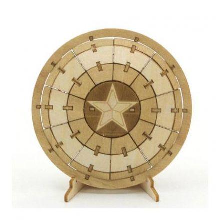 IncrediBuilds dřevěný 3D model, Marvel, Kapitán Amerika štít
