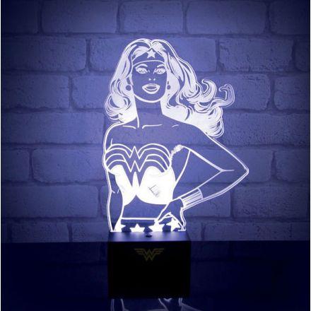 DC Comics, Wonder Woman, USB akrylátová lampička
