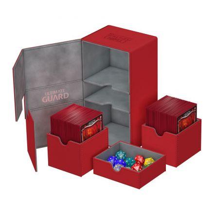 Ultimate Guard Twin Flip&Tray, box na 200+ kartiček, červený