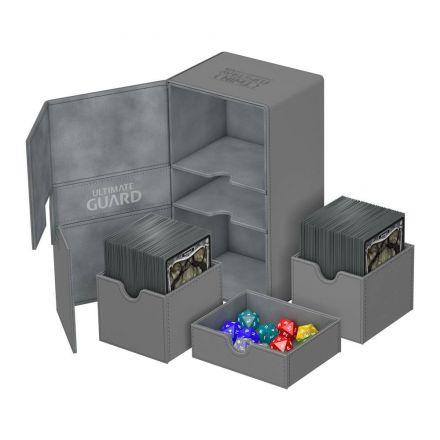 Ultimate Guard Twin Flip&Tray, box na 200+ kartiček, šedý