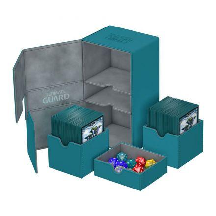 Ultimate Guard Twin Flip&Tray, box na 200+ kartiček, petrolejový