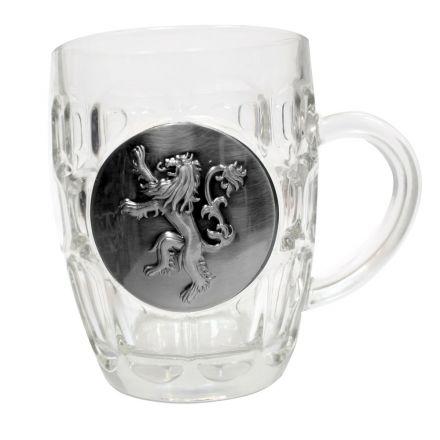 Game of Thrones Lannister, skleněný půllitr s logem