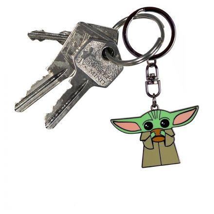 Star Wars, The Mandalorian, The Child s hrnečkem, přívěšek na klíče